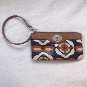 Fossil Brand small floral purse or wristlet
